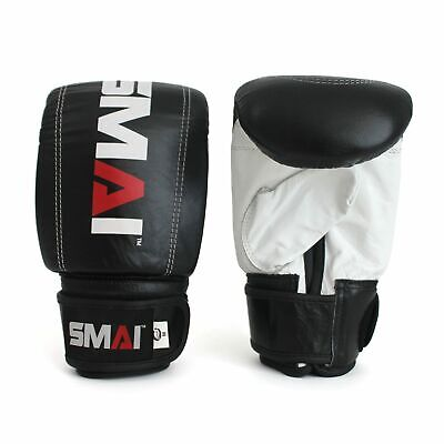 NEW SMAI Training Bag Mitt Boxing Glove Genuine Leather - MMA Kickboxing Punc...