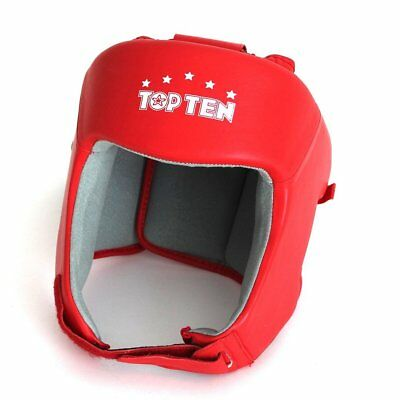 NEW SMAI Top Ten Boxing Head Face Guard Helmet Genuine Leather - MMA Kickboxi...