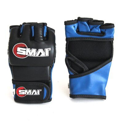 NEW SMAI MMA Gloves Element Syntec Leather - Grappling Punch Bag Muay Thai Ki...