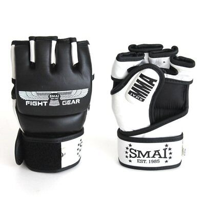 NEW SMAI MMA Gloves Velocity Genuine Leather - Grappling Punch Bag Muay Thai ...