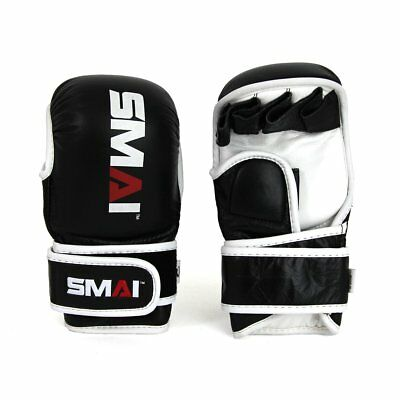 NEW SMAI MMA Shute Gloves Pro85 Genuine Leather - Sparring Grappling Punch Ba...