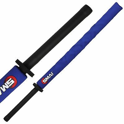 NEW SMAI Martial Arts Weapon Bokken - Foam Safety in Blue, Red - Fighting Tra...