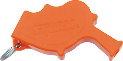"All Weather Safety Whistle Storm Safety Whistle Orange casing. 3 1/4"" overall. E"