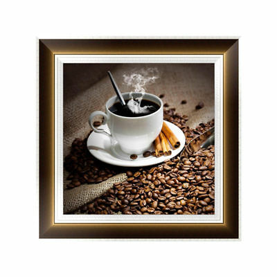 5D Diamond Embroidery Coffee Painting Cross Stitch DIY Craft Home Wall Decor
