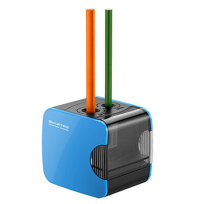 Electric Pencil Sharpener USB Battery Operated Kids-friendly Office/School Blue