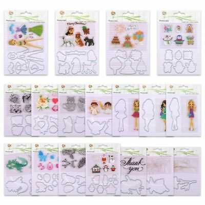 Metal Cutting Dies Stencil+Clear Rubber Stamps Scrapbooking Embossing DIY Crafts