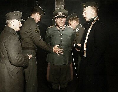 "Nazi General Anton Dostler executed by firing squad 8""x 10"" WWII Color Photo 482"