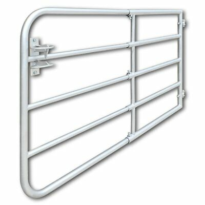 # Farm Gate Field Garden Backyard Self-Locking Galvanised Steel 170x90cm 5 Bar