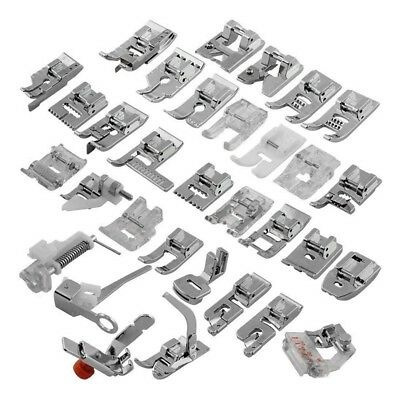 32Pcs Domestic Sewing Snap On Machine Presser Foot Feet For Brother Singer Set