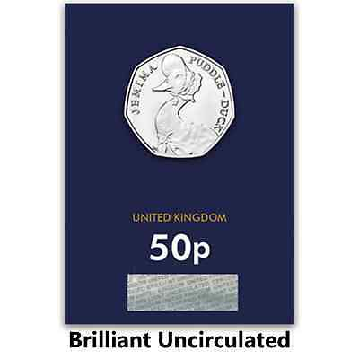 2016 Beatrix Potter Jemima PuddleDuck Brilliant Uncirculated 50p ( COLLECTIBLE )