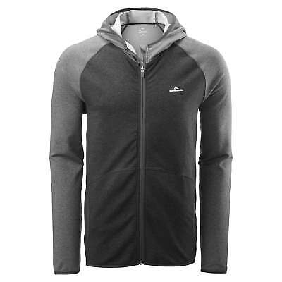 Kathmandu driMOTION Mens Full Zip Reflective Active Gym Hoodie Top Grey