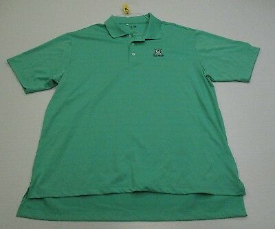 ADIDAS #T5304 Men's Size L Athletic CLIMALITE GOLF Short Sleeve Green Polo Shirt