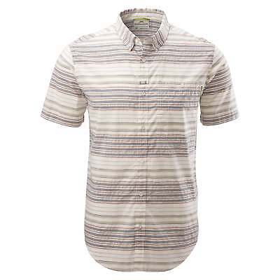 Kathmandu Renwick Mens Casual Button Down Slim Short Sleeve Shirt v3 Stripe