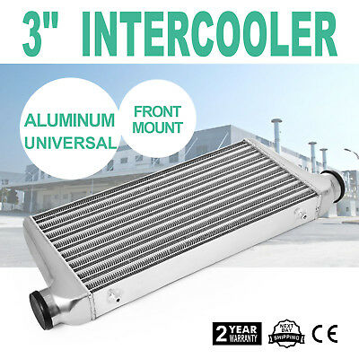 """Universal Intercooler 3"""" Front Mount 700 Cubic Ft/Min High Quality 600x300x76mm"""