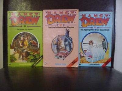 3 X  Collectable  NANCY DREW  Paperback Books. By Carolyn Keene
