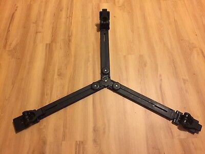 Manfrotto 165MV Ground Level Tripod Spreader for Twin Spiked Metal Feet (Black)