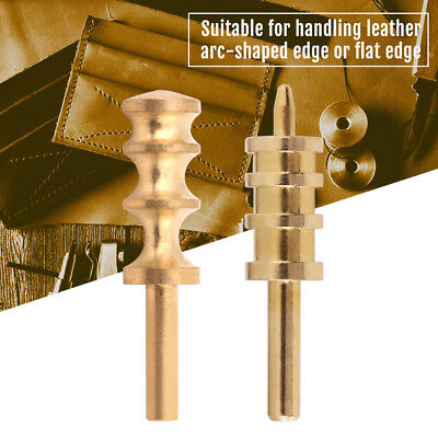 Leather Craft Pure Brass Leather Seal Edge Hot Electric Iron DIY Tools 3 Groove