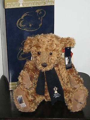 Russ Collector Bear - 'William'. 2003 Rugby World Cup Official Bear.