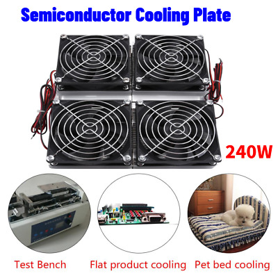 240W Semiconductor Refrigeration Thermoelectric Peltier Cold Plate Cooler W/ Fan