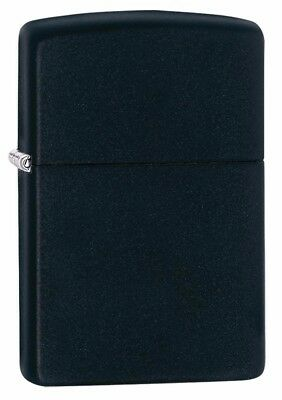 New Refillable Zippo Classic Black Matte Windproof Lighter #218