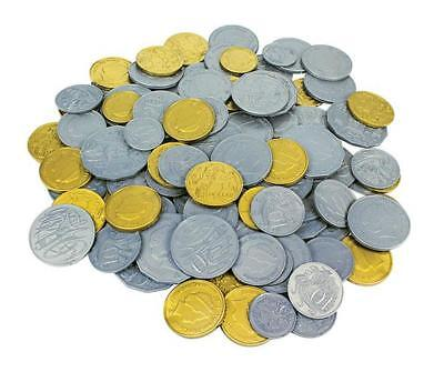 Australian Plastic Coins Pk 60pcs Play Money Maths Teacher Resource Realistic