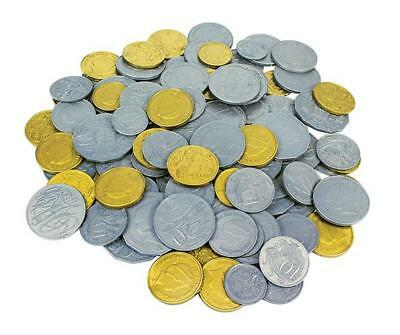Australian Play Money Coins Pk 60pcs Maths Teacher Resource Realistic Kids Toy