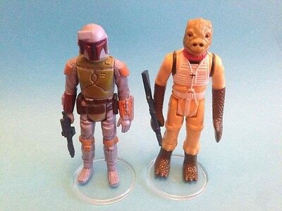 """Star Wars Vintage - 20 Large CLEAR Figure Display Stands 1.5"""" - Brand NEW!"""