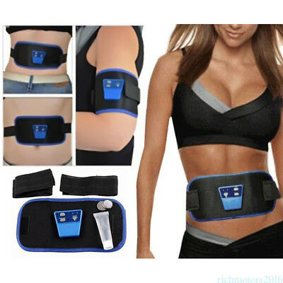 ABS Gymnic Muscle Stimulator Arm leg Waist Abdominal Massage Fit Toning Belt RM6