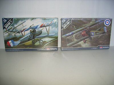 Academy 1/32 WW1 model plane kits, Sopwith Camel F.1 & Nieuport 17