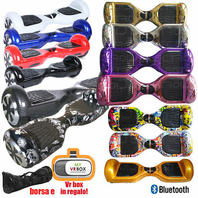 """Overboard 6.5"""" Hoverboard Luci Led Bt Self Balance Colori"""