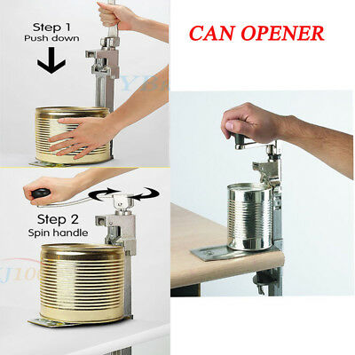 Heavy Duty Catering Can Jar Tin Opener For Commercial Kitchen Stainless Steel