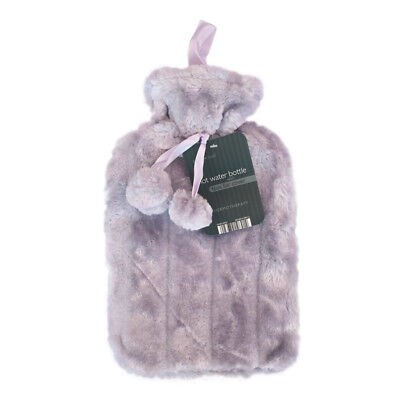 Country Club Plain Fur Hot Water Bottle Purple Faux Christmas Stocking Filler
