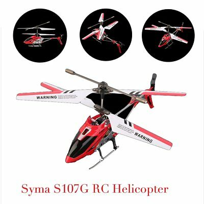 Syma 3 Channel S107G Mini Indoor Co-Axial R/C Helicopter Gyro Red RC LOT KE
