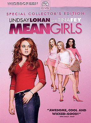 Mean Girls (DVD, 2004, Widescreen Special Collector's Edition) Lindsay Lohan NEW