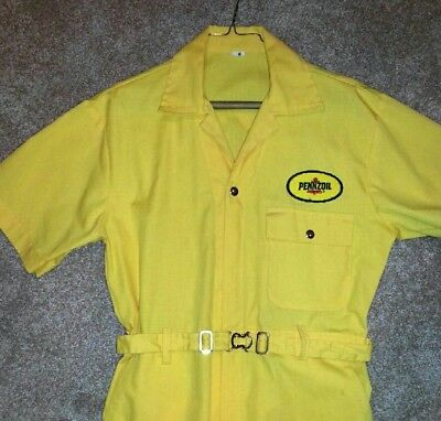Pennzoil Yellow Pit Crew 1990 Racing Jumpsuit LNWT