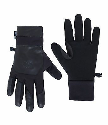 The North Face Unisex Etip Leather Glove - Black - Phone Compatible