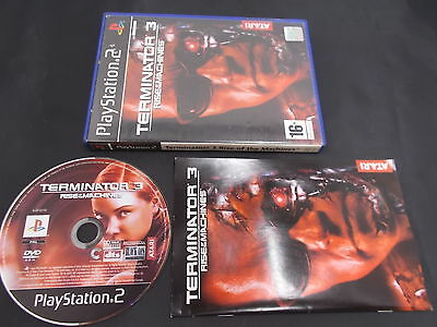 PS2 PlayStation 2 Pal Game THE TERMINATOR 3 RISE OF THE MACHINES with Box Instru