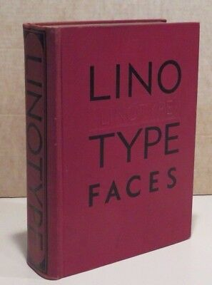Mergenthaler Specimen Book of Linotype Faces - Circa Late 1930's