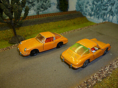 SIKU: 2x Porsche 911 V234 in Orange! 2 Versionen! Bespielter Zustand!