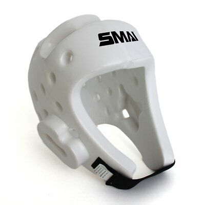 NEW SMAI Head Guard Gear Helmet Protector - Dipped White Foam - Martial Arts ...