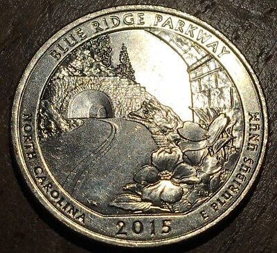 Piece De 25 Cents Quarter Usa 2015 North Carolina D (223)