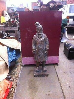 Chinese Warrior Statue Scholar or Miltary General - Garden Statue Porch Patio