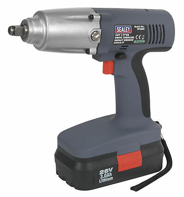 "Sealey CP2600 Cordless Lithium-ion Impact Wrench 26V 1/2""Sq Drive 335lb.ft New"