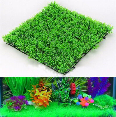 2X Artificial Water Aquatic Green Grass Plant Lawn Aquarium Fish Tank Landscape