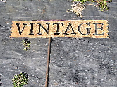 Wrought Iron Vintage Garden Sign Stake Home Decor Metal Yard Ornament Rustic Art