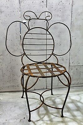 Wrought Iron Adult Bumblebee Chair Metal Patio Seating Lawn Decor