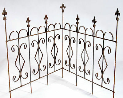 New Connecting Fleur De Le Wrought Iron Fence Garden Border Fencing