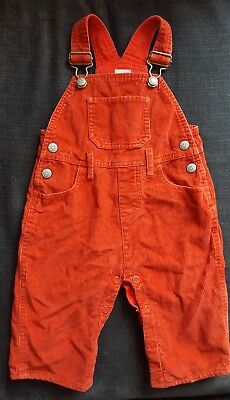 Mini boden cord dungarees 6-12 months