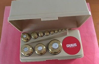 Ohaus Sto-A-weigh Gram Weight Set of 12 For Scale Weighting Precious Metals