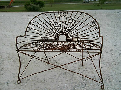 Wrought Iron Antique Style Bench, Metal Several colors, Patio and Deck Furniture
